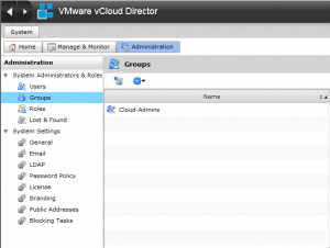 Cannot add groups to vCD after configuring LDAP