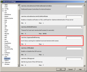 How To: Disable warnings when SSH enabled vSphere ESXi 5.0