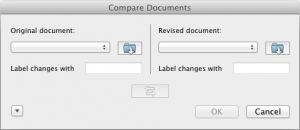 Compare two Word documents - MAC