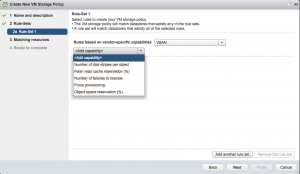 Configure disk redundancy VMware VSAN